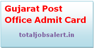 Gujarat Post Office Admit Card