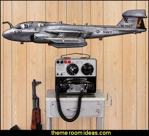 Prowler Fighter Plane Sign Large Cut Out   Army Theme bedrooms - Army Room Decor - Military bedrooms camouflage decorating - Marines decor boys army rooms - camo themed rooms - Military Soldier - Uncle Sam Military home decor - Airforce Rooms - military aircraft bedroom decorating ideas - boys army bedroom ideas - Navy themed decorating
