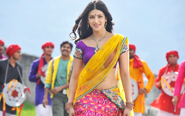 shruti hassan saree images