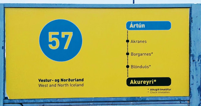 By bus from Reykjavik to Akureyri