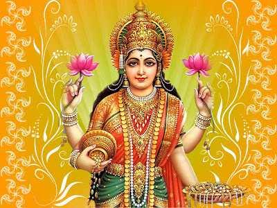 Picture of Goddess Varalakshmi one of Ashtalakshmis