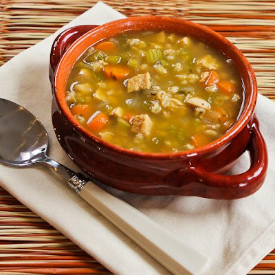 Chicken Barley Soup found on KalynsKitchen.com