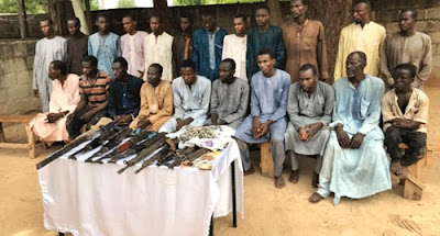 Police Arrest & Parade Suspected Kidnappers Of Chibokgirls