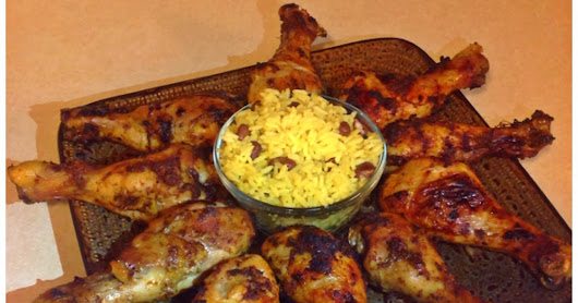 Recipe of the day: Jamaican Jerk Chicken with Coconut Rice and Beans | Kraheenah's Blog