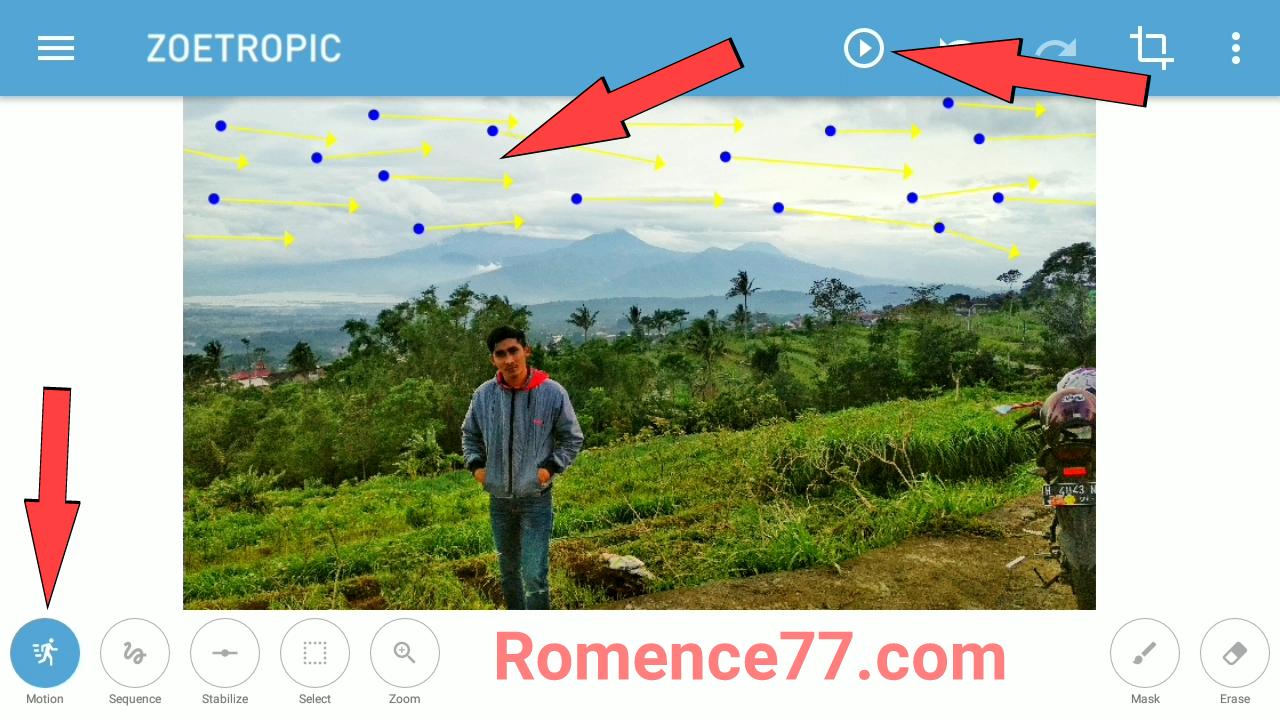 Cara Membuat Foto Awan Bergerak Dengan Mudah Di Android Berbagi