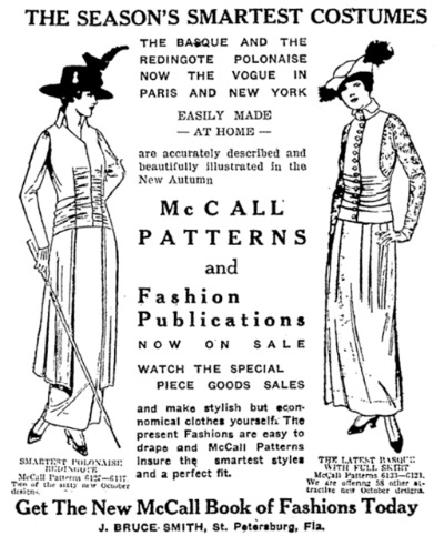 Illustration of McCall Book of Fashions Today 1914