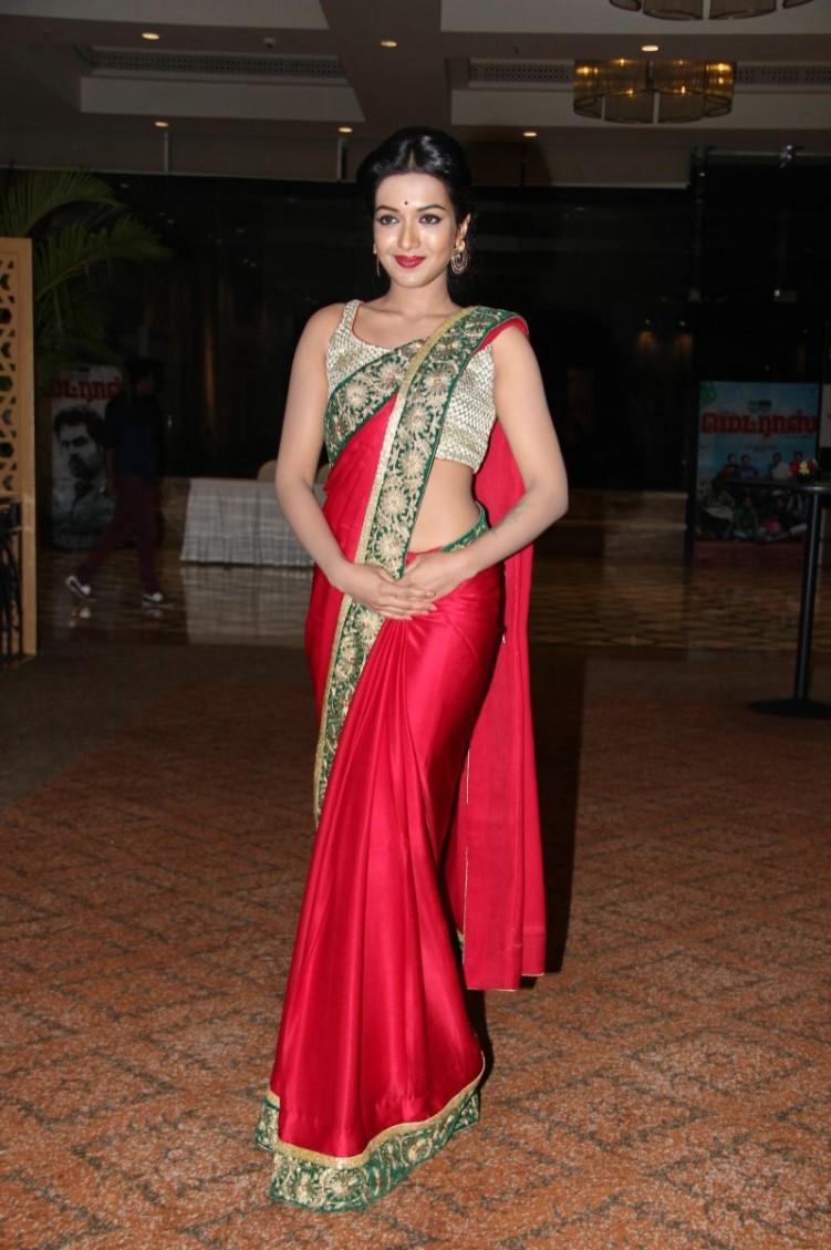 Catherine Tresa Latest Hot Stills In Red Saree