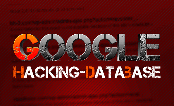 Google Hacking Database GHDB - THE CURRENT HACKING NEWS