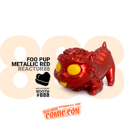 New York Comic Con 2018 Exclusive Foo Pup Metallic Red Edition Resin Figure by Reactor88 x myplasticheart
