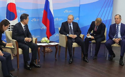 Vladimir Putin held Russian-South Korean talks.