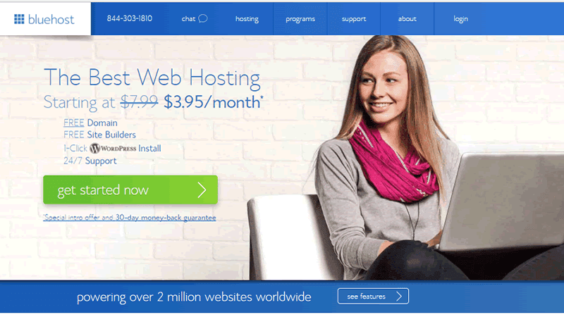 BlueHost offers innovative hosting services