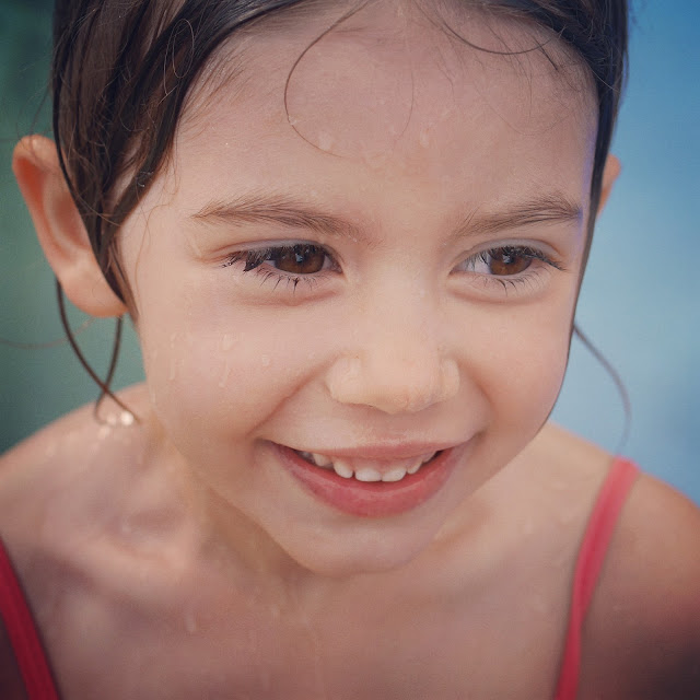 youngest all smiles at the water park
