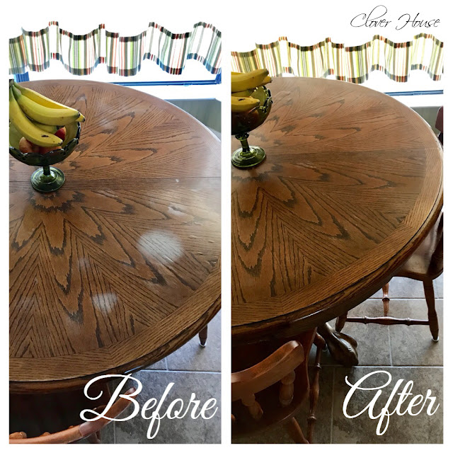 Clover House Removing White Heat Marks From Your Table Top - How To Remove White Spots On Wood Tables