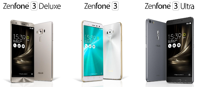 ASUS ZenFone 3 ZenBook 3 and Transformer 3 Series