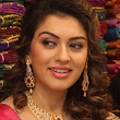 Hansika in Designer Diamond Necklace Paired with Heavy Jhumkas
