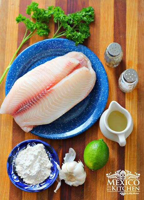 Mexican Fish fillet in garlic sauce al mojo de ajo