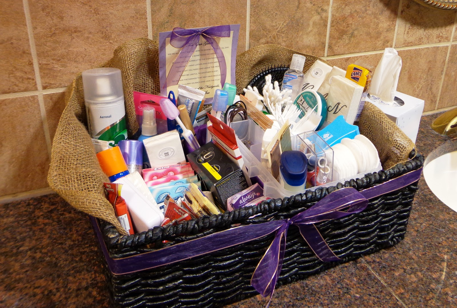 Wedding Gift Item: My Honey Bunch: Wedding Bathroom Basket