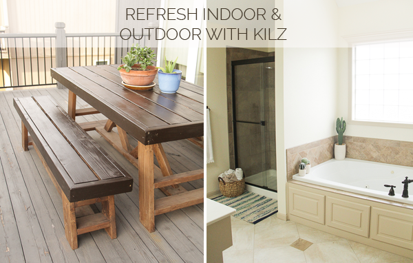Putting KILZ COMPLETE COAT™ Interior U0026 Exterior Paint To The Test I Decided  To Paint My Master Bath And My Patio Table! I Am So Happy With The Results  And ...