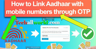 How to link adhar with mobile number