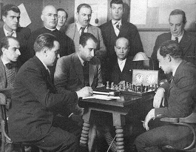 Encuentro Koltanowski - R.Doménech en la Academia Católica de Ripoll (24-11-1933)