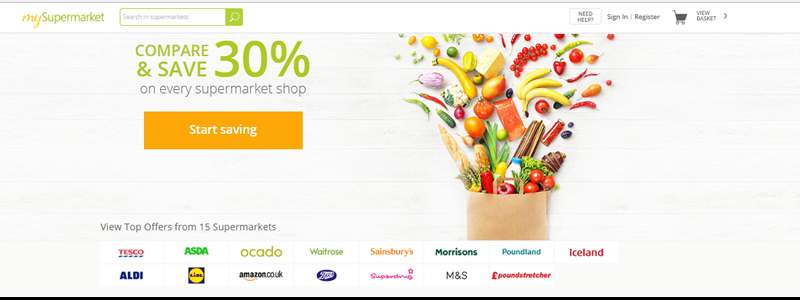 mySupermarket helps shoppers save money on their grocery shop