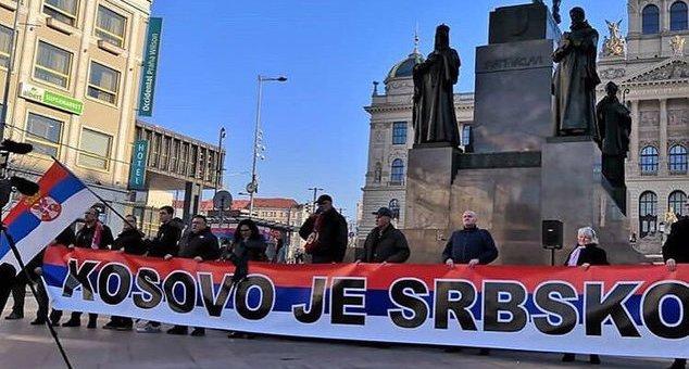 #Vesti #Kosovo #Metohija #Srbija #Prijatelji #Češka #protest