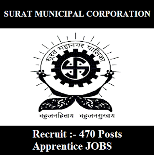Surat Municipal Corporation, SMC, Gujarat, Apprentice, 10th, ITI, freejobalert, Sarkari Naukri, Latest Jobs, smc logo