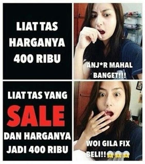 Meme 'Cewek Susah Dimengerti'