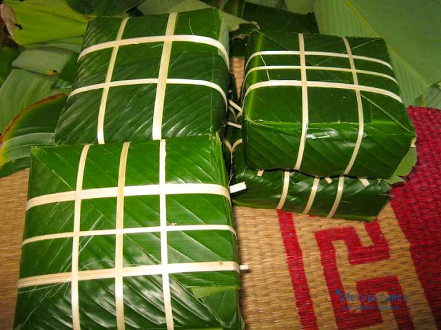 "Traditional cake ""Banh Chung"""