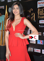 Adah Sharma in Red Deep Neck Spicy Gown ~  Exclusive 17.jpg