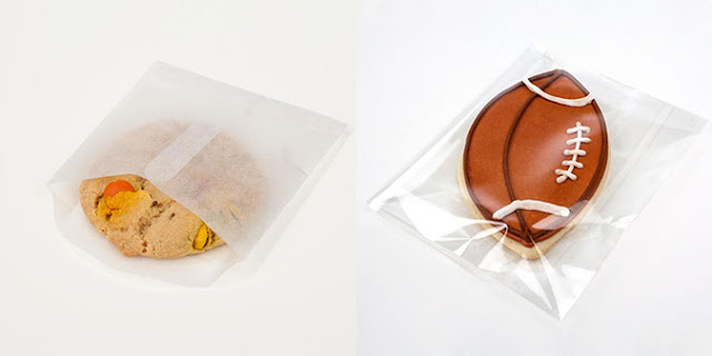 Crystal CLear No Flap Bag for packaging Cookies