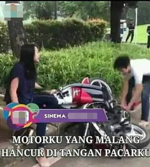 9 Meme Lucu 'Pria Rusak Motor' Ini Kocaknya Bikin Iba