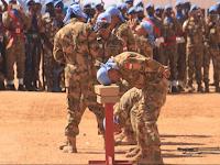 Atraksi Senjata dan Bela Diri TNI Pukau Pasukan PBB