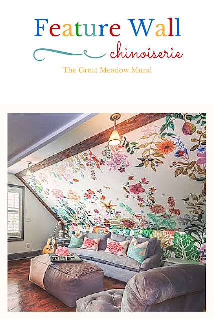 built upon a foundation of fantasy, humor and childhood memories.-About the design:this is limited edition, grand-scale floral mural, the artist awakens the child-like wonder in all of us, leading one to imagine what it might be like to be minute amid a verdant meadow. - A focal wall in a bedroom is enhanced by wallcovering.-Correct pattern placement on the wall is key to the beauty of this wallcovering.-(chinoiserie), fall, Feature Wall (aka) Accent Wall, Great Meadow Mural..., Head Wall, spring, Statement Wall, summer, wallpaper mural, children wallpaper,