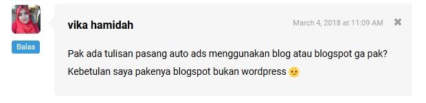Cara Memasang Auto Ads di Blogspot atau Blogger