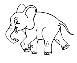 Baby Elephant Coloring Sheet Images
