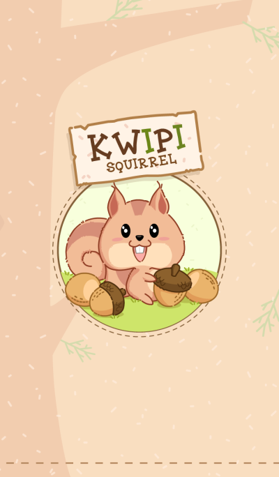 Kwipi little squirrel love acorn