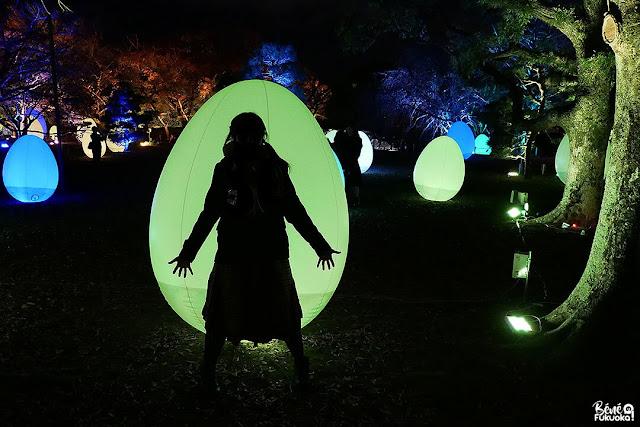 福岡城 チームラホ 城跡の光の祭