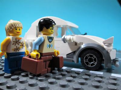 MOC LEGO Viagem no Citroen 2CV Charleston