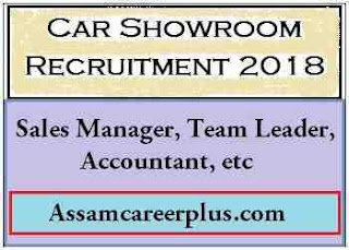 Car showroom Recruitment