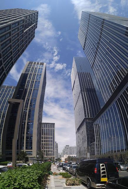 tour d'immeuble à Qingdao Chine