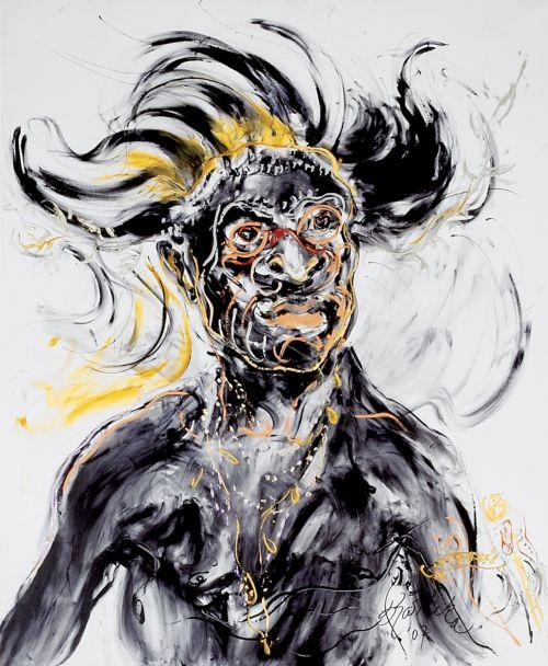 Lukisan berjudul Pemuda Papua