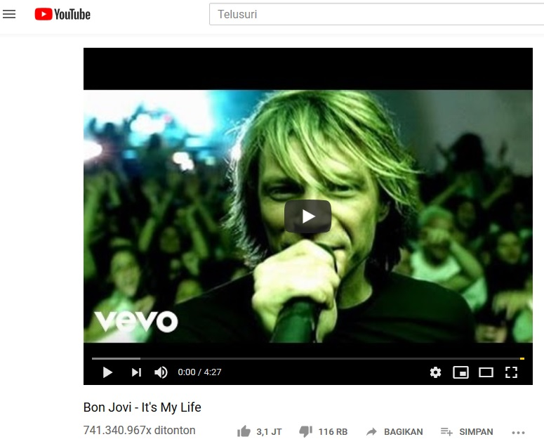 Cara Download Video Youtube Bon Jovi - It's My Life