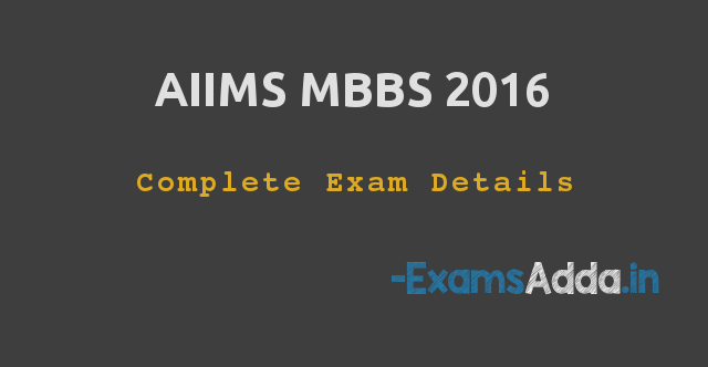 AIIMS MBBS 2016
