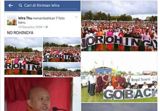 Keji! Wirathu Tak Menyesal dan Justru Kumpulkan Umat Budha Tegaskan Usir Rohingnya