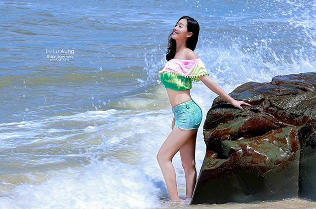 With you myanmar model beach photos are