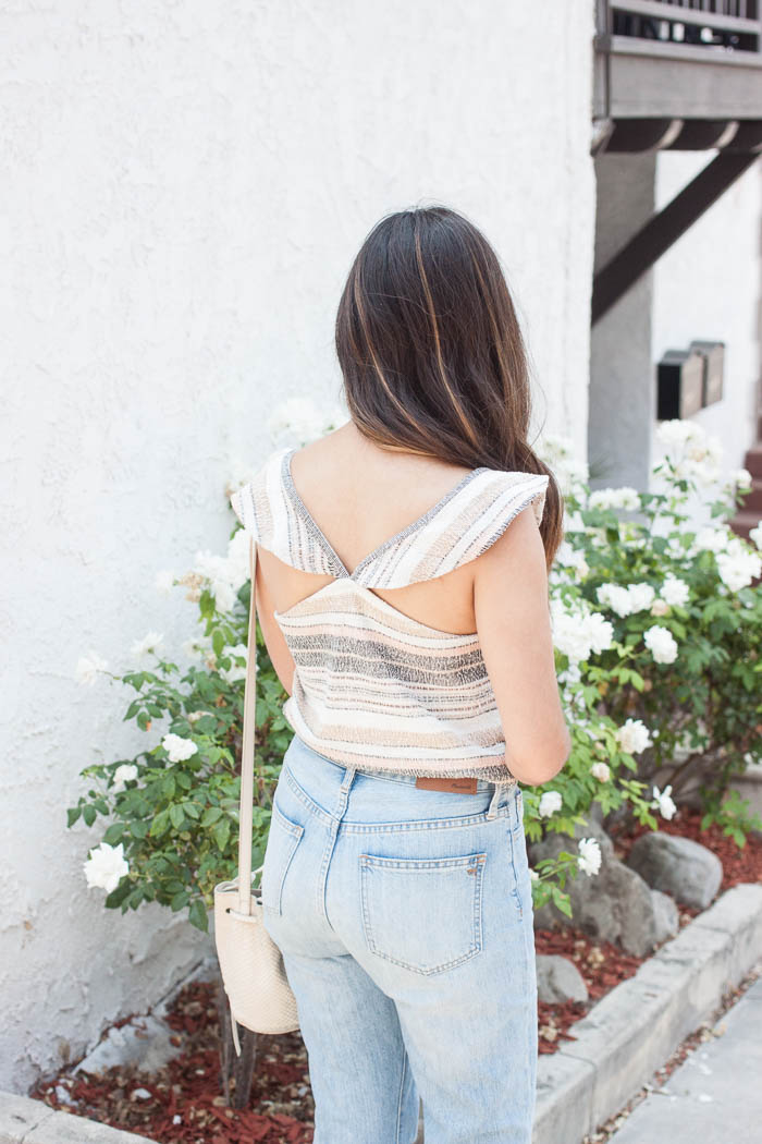 stripe tank with ruffles