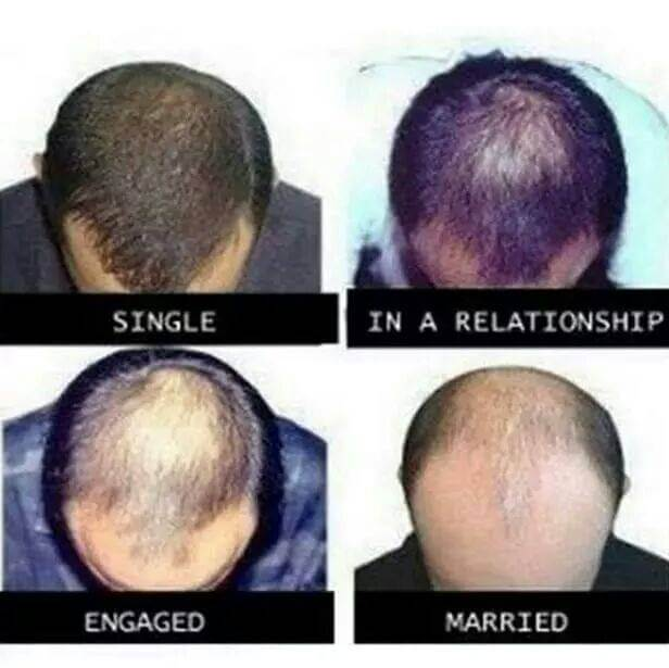 16 Funny Pictures Of The Startling Differences Between Single And Married Life - Hair differences