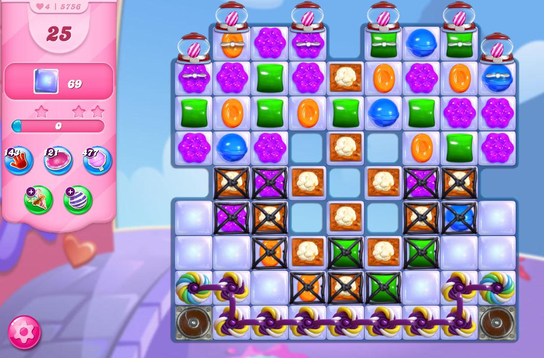 Candy Crush Saga level 5756