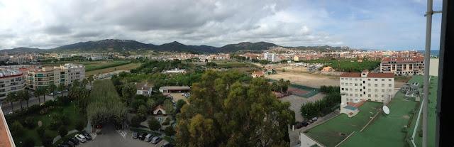 VIEW FROM THE TOP FLOOR OF THE HOTEL IN PINEDA DE MAR